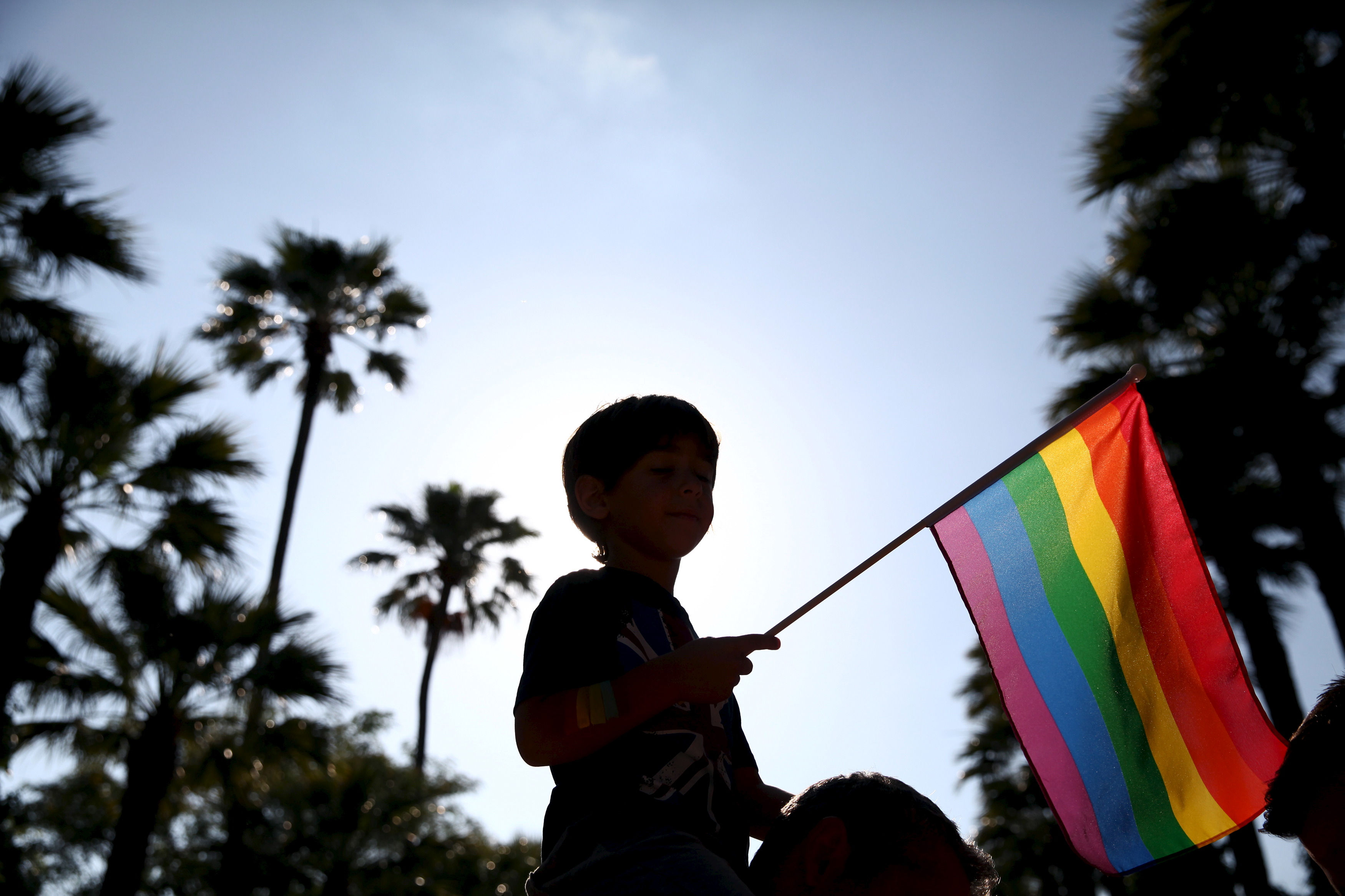 A boy waves a rainbow flag during a Gay Pride march held in Nicosia, Cyprus on June 6, 2015. Cyprus recently passed legislation penalizing incitement to hatred on grounds of sexual orientation and authorities say they are preparing legislation for civil partnerships. Photo by Yiannis Kourtoglou/Reuters