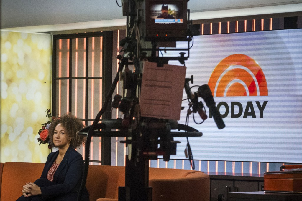 "Rachel Dolezal seen in the NBC's ""Today"" show studios on June 16, 2015. Photo by Stephanie Keith/Reuters"