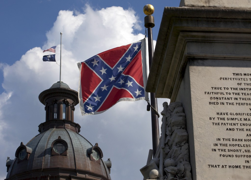 The Confederate flag that flies at the South Carolina Capitol could soon be making its last stand. Photo by Jason Miczek/Reuters