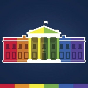 An avatar depicting the White House in rainbow colors is seen as it appeared on the White House's Twitter feed after a Supreme Court ruling on gay marriage Friday. Photo from The White House/Handout via Reuters