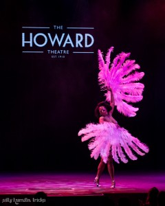 Chicava HoneyChild performing at the Howard Theater, Washington D.C.  Courtesy of Sunday Soiree Burlesque  photography, Devon Roland