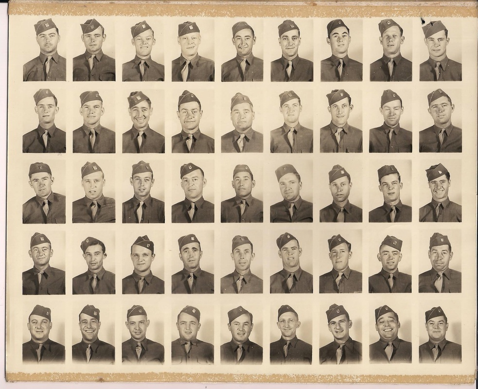 The 140th Infantry Regiment. Corporal Henry Bernard Van Hyfte is in the second to last row third in from the right.