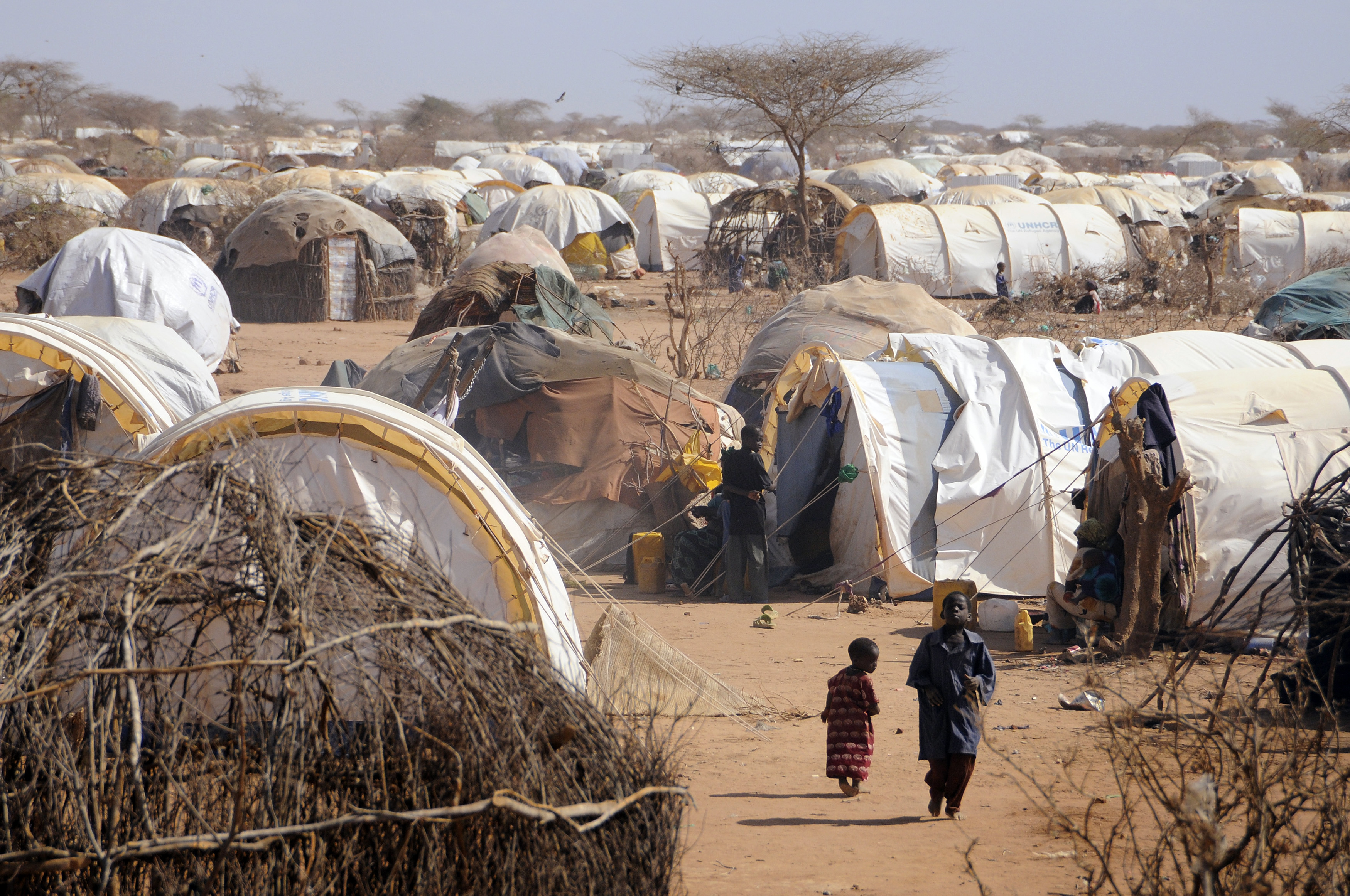 The Dadaab camp is about 20 square miles located in eastern Kenya, about 60 miles from the Somali border. Photo by Jonathan Ernst/Reuters