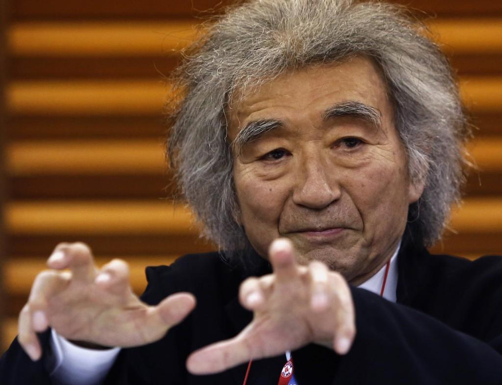Maestro Seiji Ozawa. Photo by Yuya Shino/Reuters.