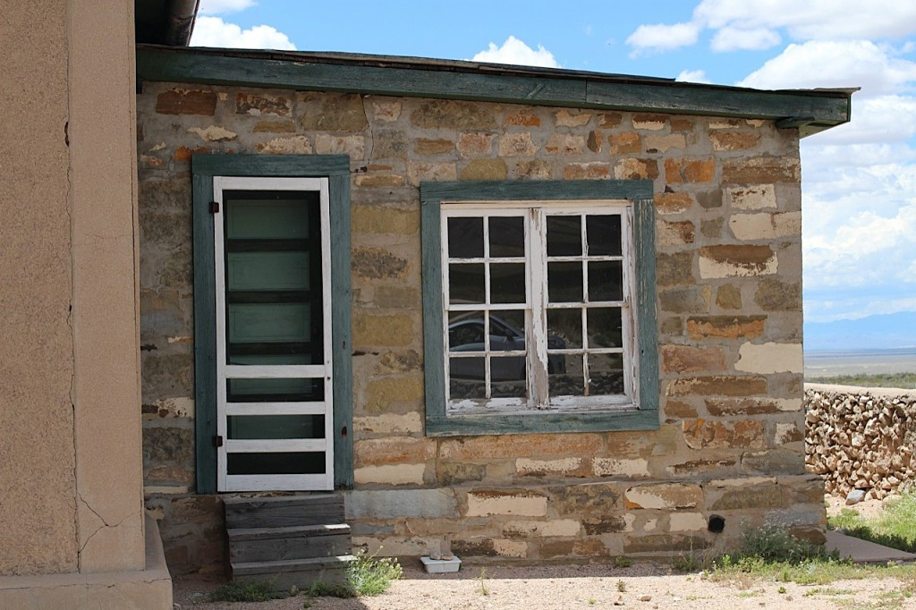 The shock waves from the explosion blew out the windows here and in homes as far as 120 miles away. These were replaced in a 1984 restoration. Photo by Kathleen McCleery