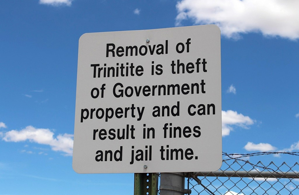 It's illegal to take trinitite off the Trinity site, though visitors -- people who lived nearby, tourists, even scientists -- have gathered it for years. Photo by Kathleen McCleery