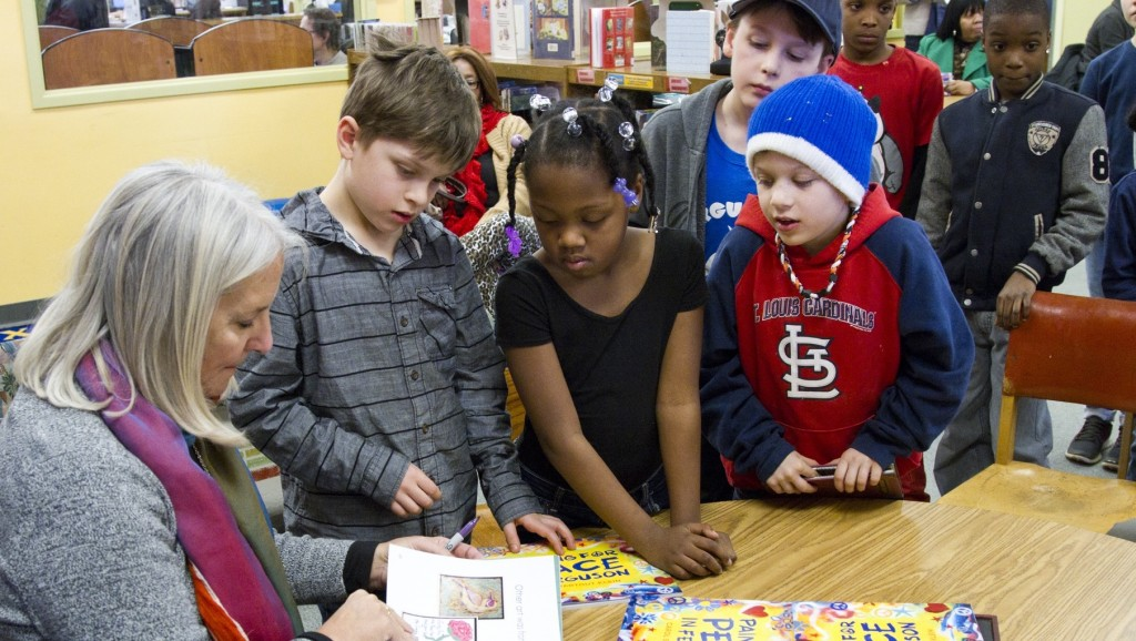 Kids at Ferguson library