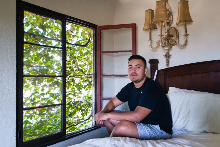 Louis Arevalo, 27, says he decided to go on the medication last month after getting scared when a condom broke. The college student from Los Angeles says he uses the pill as an extra layer of protection. Photo by Heidi de Marco/KHN