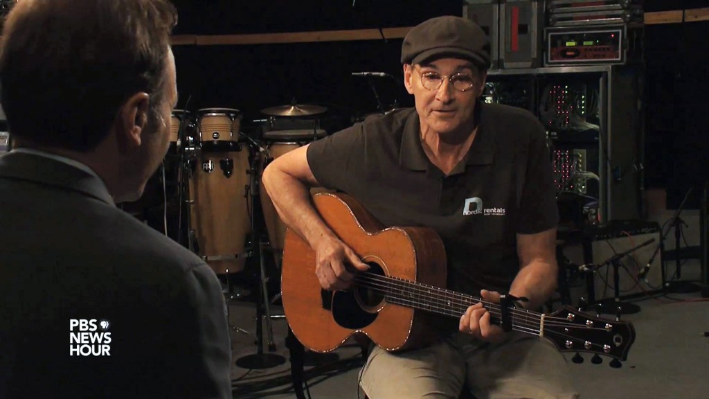 """James Taylor rehearses """"Shower the People"""" for PBS NewsHour"""