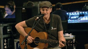 "James Taylor rehearses ""Angels of Fenway"" for PBS NewsHour"