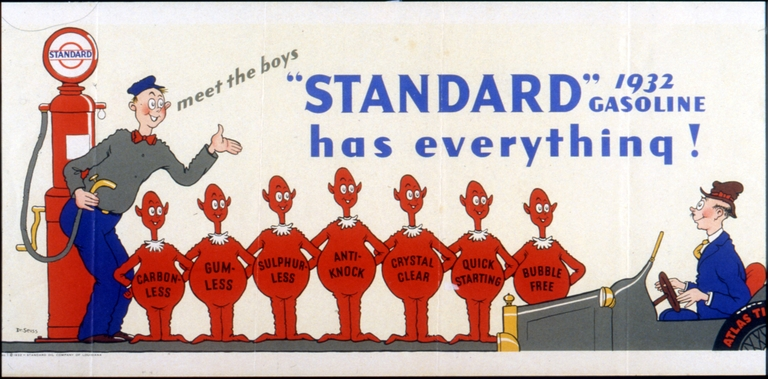A Standard Oil Company - Essolube advertisement, between 1930 and 1940. Image courtesy of Special Collection & Archives, UC San Diego Library