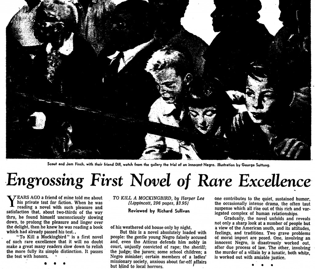 how newspapers reviewed to kill a mockingbird in newshour