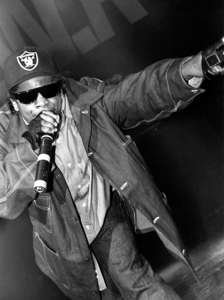 N.W.A.'s Eazy-E performing at Brixton Academy in London in 1991. Photo by Michelle Poorman/PYMCA/UIG