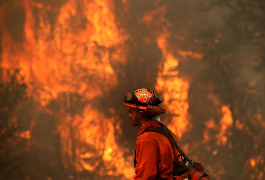 More than 2,000 firefighters are battling the Rocky Fire that has burned over 60,000 acres since it started on Wednesday afternoon. Photo by Justin Sullivan/Getty Images