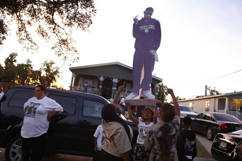Malik Braddy funeral - New Orleans