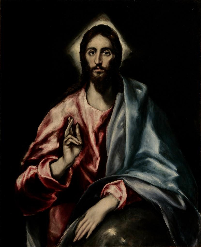 El Greco, The Savior (from the Apostles series), Toledo, Spain, ca. 1608–1614. Oil on canvas. Museo del Greco, Toledo. Photo: Tomas Antelo, Instituto del Patrimonio Cultural de España, Madrid.