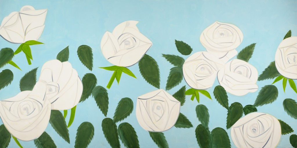 Alex Katz. White Roses 9, 2012. Oil on linen, 108 x 216 inches. Photography by Paul Takeuchi. 15-Alex-Katzs-White-Roses-from-2014-showsn-at-the-High-Museum-exhibit-This-Is-Now-earlier-this-year-©Alex-Katz-Licensed-by-VAGA-New-York-NY.jpg