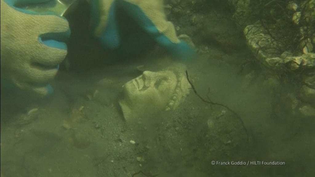Buried underwater, Ancient Egyptian artifacts rise to the surface in Paris