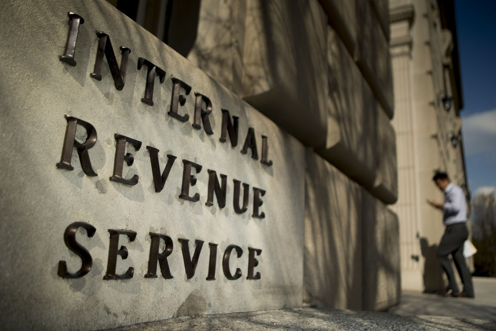 The Internal Revenue Service (IRS) headquarters strands in Washington, D.C. Photo by Andrew Harrer/Bloomberg via Getty Images