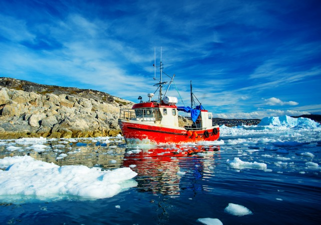 Ilukissat, Greenland, 217 miles north of the Arctic Circle. Photo by Ken Burton/Vancouver Maritime Museum