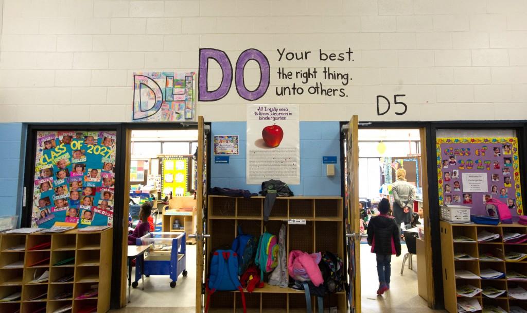 Pleasant View Elementary School in Providence, Rhode Island is proud of it's school spirit. Photo by Gretchen Ertl/Hechinger Report