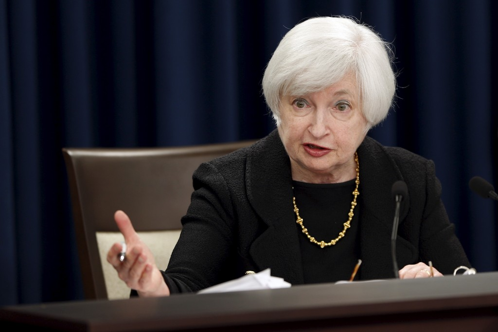 Federal Reserve Chair Janet Yellen holds a news conference following the Federal Open Market Committee meeting in Washington September 17, 2015.  REUTERS/Jonathan Ernst - RTS1MDY