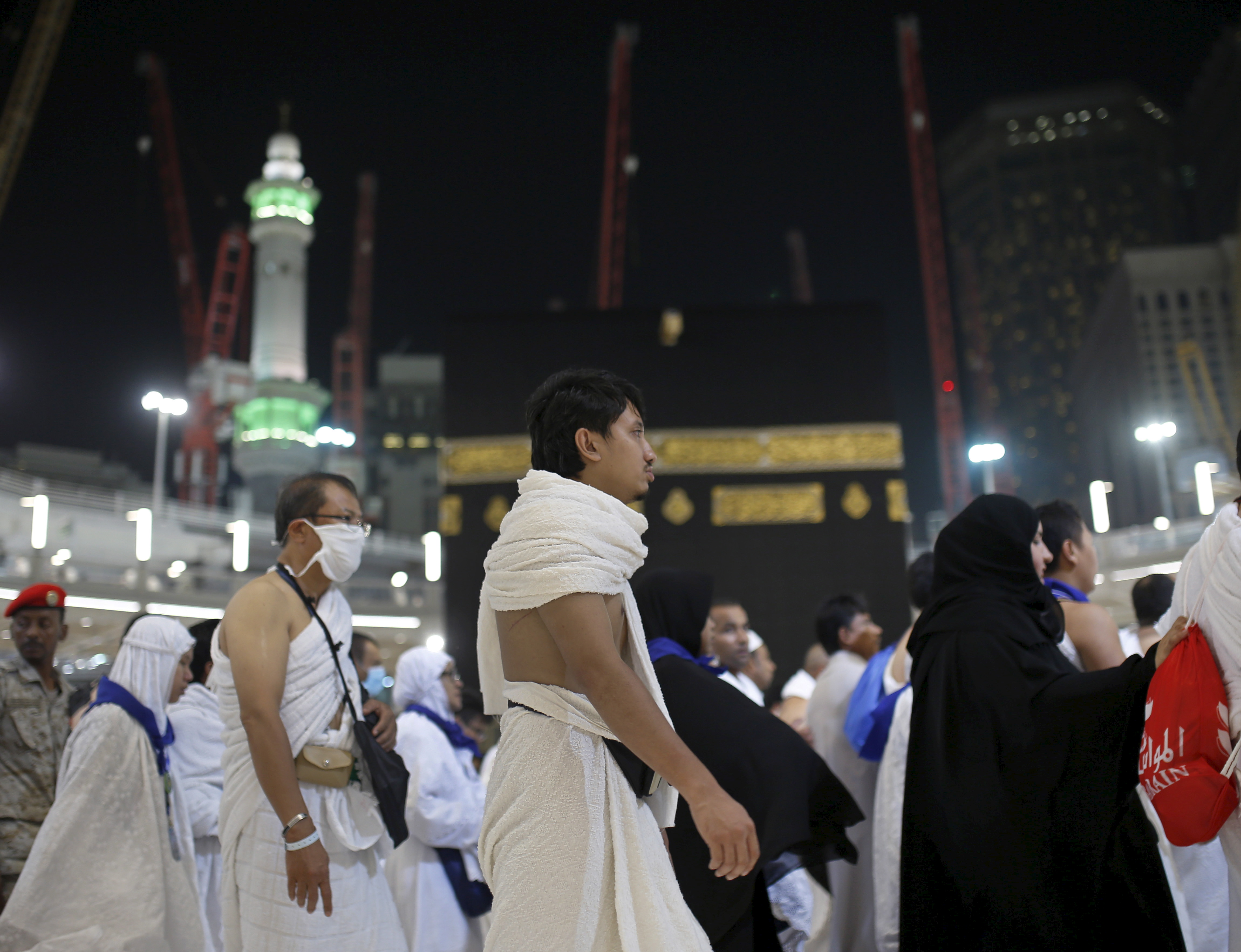 Muslim pilgrims pray around the holy Kaaba at the Grand Mosque on the first day of Eid al-Adha during the annual hajj pilgrimage in Mecca, Saudi Arabia, on Sept. 24. Photo by Ahmad Masood/Reuters