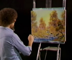 Here S What Happened When I Tried To Paint Like Bob Ross Pbs Newshour