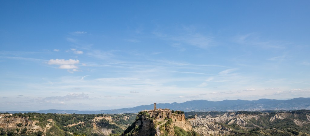 Civita di Bagnoregio is surrounded by agricultural lands, including olive groves, and for centuries this served as the principal means of employment. Photo by Frank Carlson
