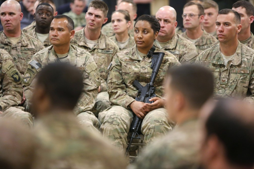 File photo of U.S. soldiers in Kandahar, Afghanistan, by Jonathan Ernst/Reuters