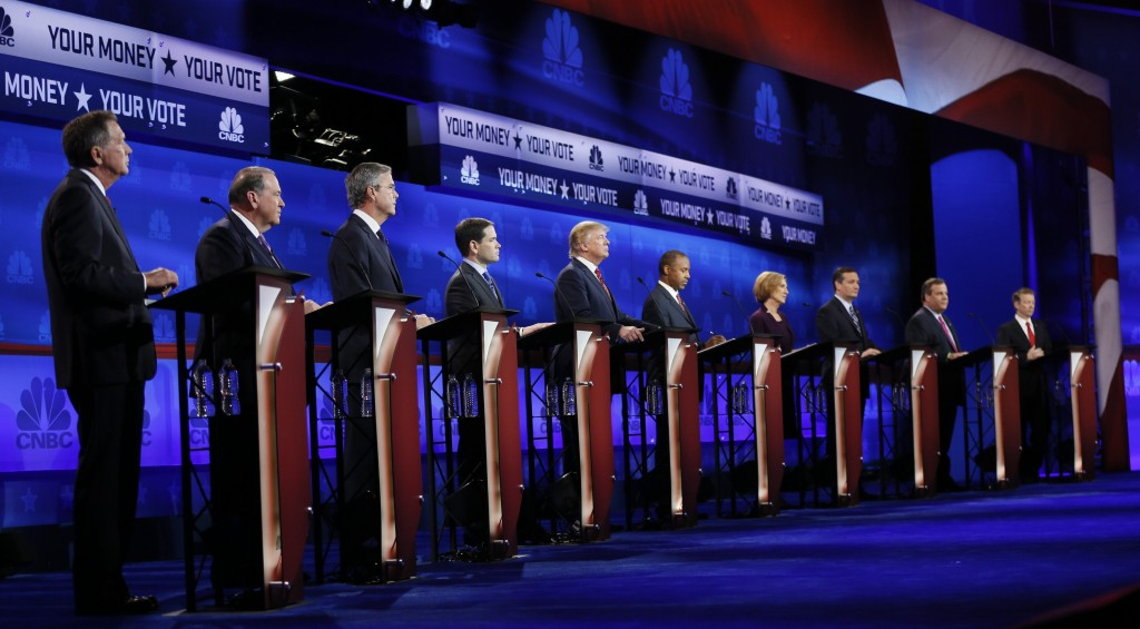 republican candidates not happy cnbc s handling of debate  leave a respectful comment