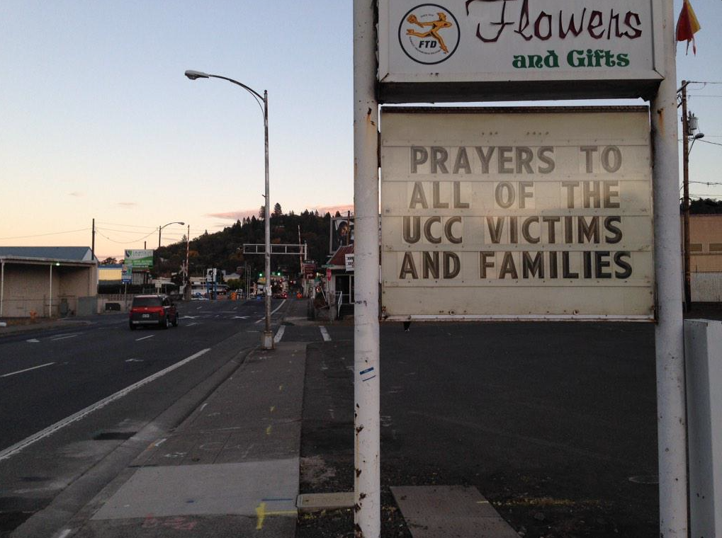 The sun sets in Roseburg, Oregon, the day a 26 year-old shooter killed 9 at Umpqua Community College. Photo by Cat Wise/PBS NewsHour