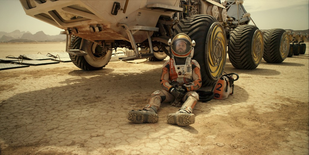 Matt Damon as astronaut Mark Watney who faces seemingly insurmountable odds as he tries to subsist on hostile Mars. Courtesy of Twentieth Century Fox