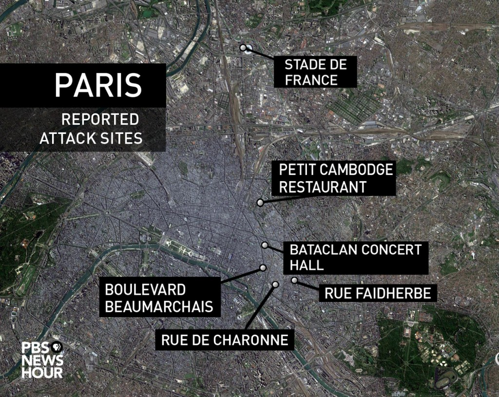 Bataclan Concert Hall Paris Map.Everything We Know About The Multiple Attacks In Paris Pbs Newshour