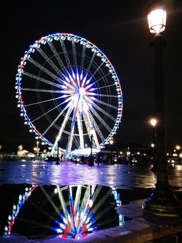 Rou de Paris, on a rainy night. photo by Hari Sreenivasan