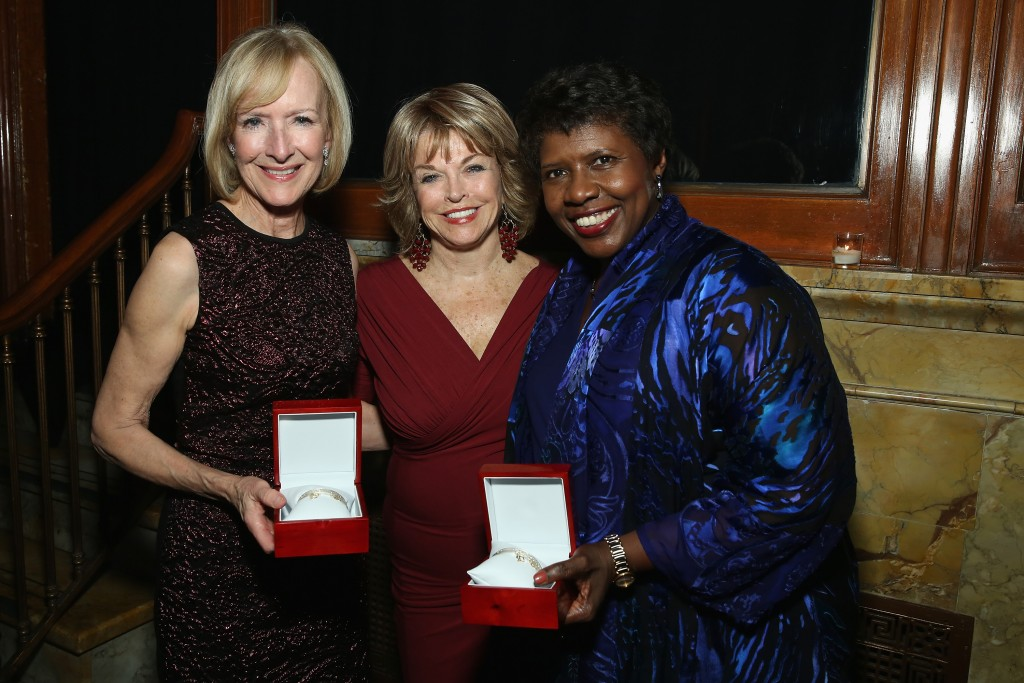 NEW YORK, NY - NOVEMBER 05:  (L-R) Judy Woodruff, Pat Mitchell and Gwen Ifill attend The Women's Media Center 2015 Women's Media Awards on November 5, 2015 in New York City.  (Photo by Cindy Ord/Getty Images for The Women's Media Center)