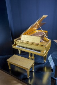 Elvis Presley's 24K Gold Leaf Piano. Photo courtesy of Julien's Auctions.