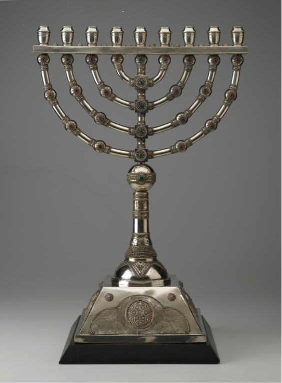 This menorah from the North Carolina Museum of Art's Judaic Art Gallery that was created in Israel during the 1920s was selected to be lit in the White House this year.