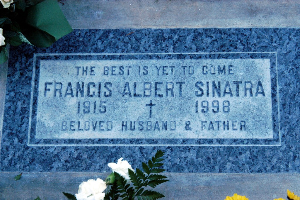 Sinatra's Grave in Palm Springs. Photo by Barry King/WireImage.