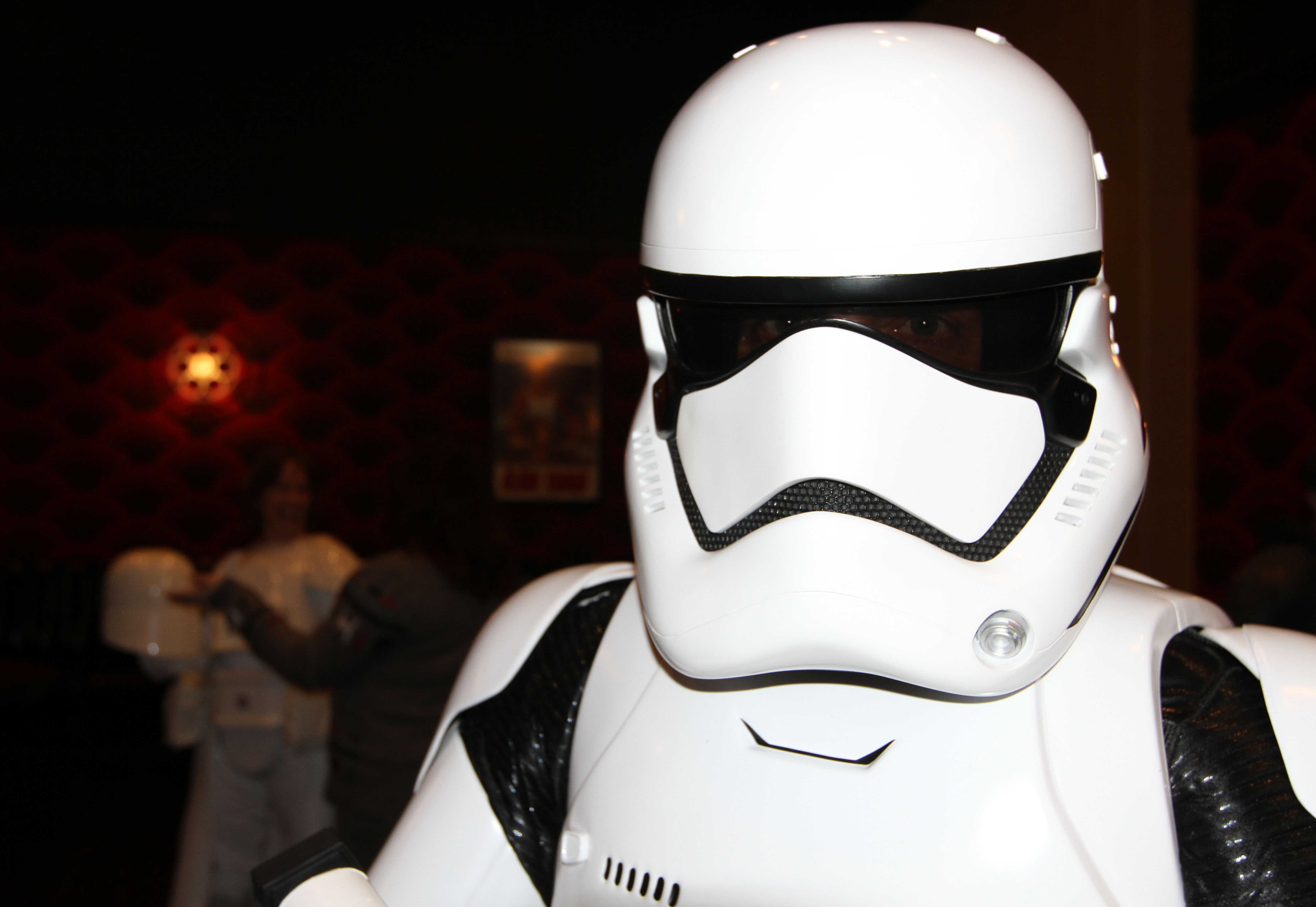 "A member of the 501st Legion dresses as a more recent version of a Stormtrooper in the ""Star Wars"" series. Photo by Larisa Epatko"
