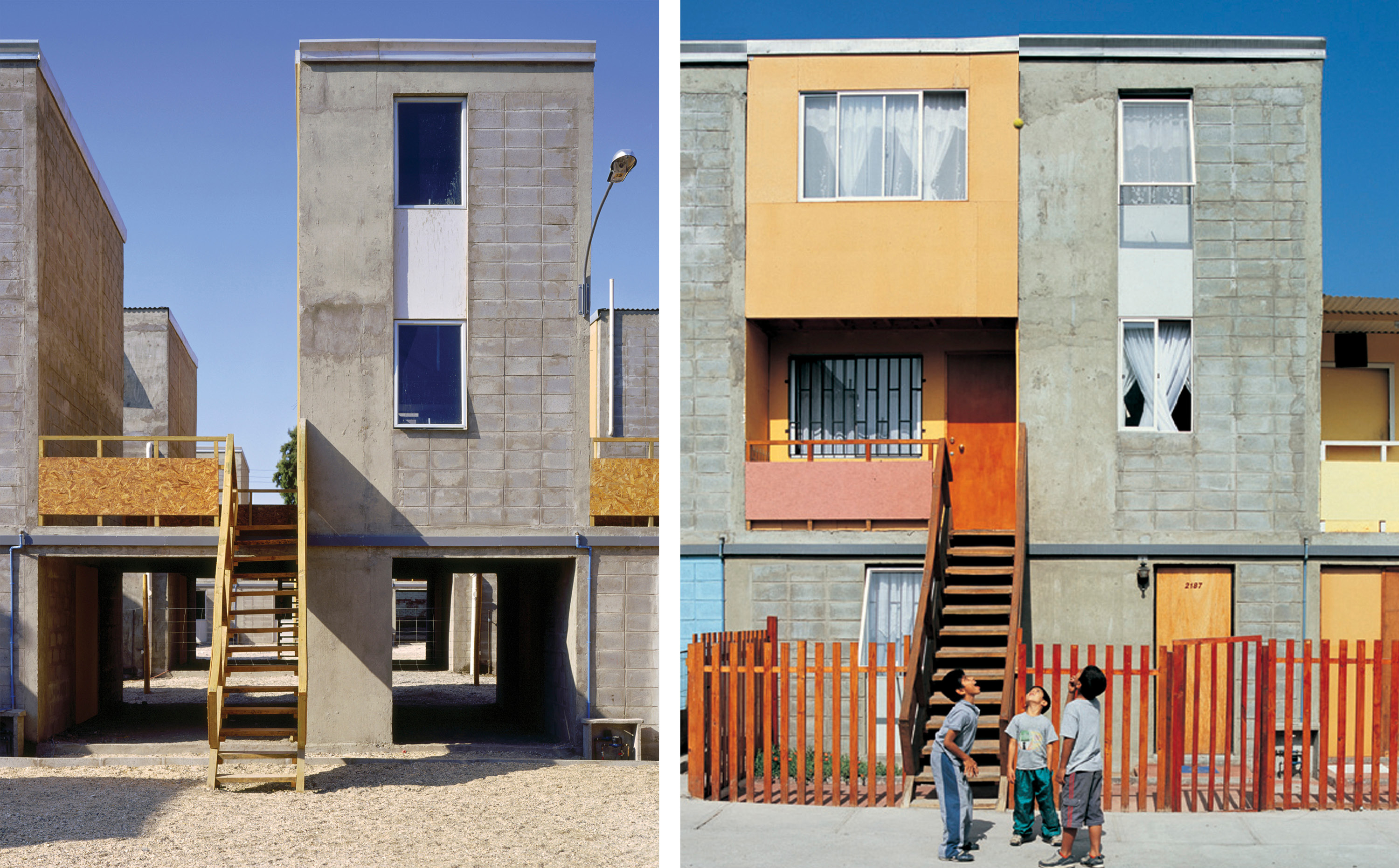 Elemental built a series of low-income housing units at the request of the Chilean government at the Quinta Monroe housing development in Iquique, Chile. Photos by Cristobal Palma