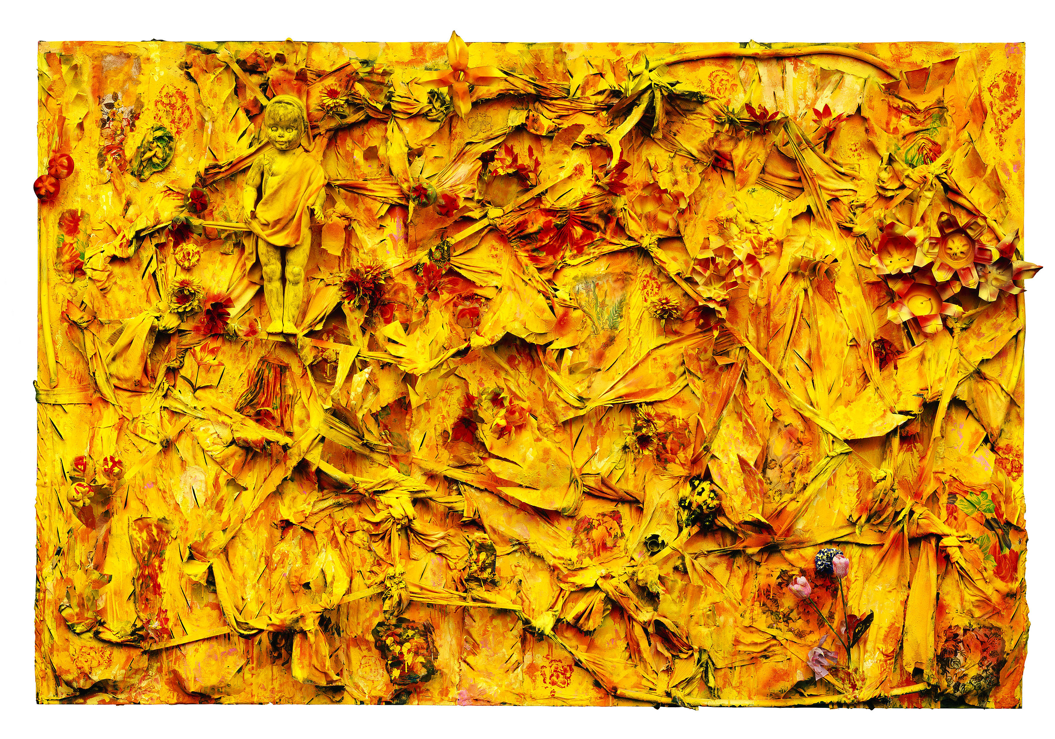 """""""Beginning of Life in the Yellow Jungle,"""" 2003. © Thornton Dial, image by Stephen Pitkin/Pitkin Studio"""