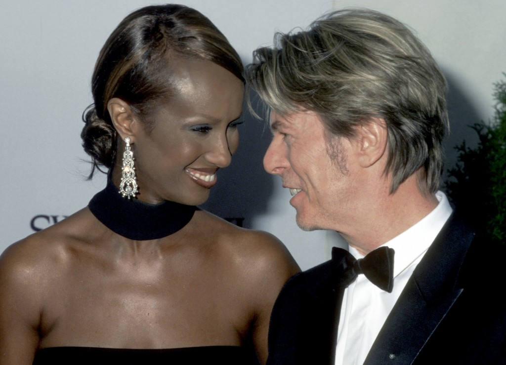 David Bowie was married to international model Iman, seen here Annual CFDA Awards at New York Public Library in 2002, for more than 20 years. and during 21st Annual CFDA Awards at NY Public Library in New York City, New York, United States. Photo by Ron Galella/WireImage