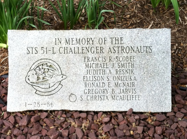 Challenger Space Shuttle Memorial, Lower Hudson Valley Challenger Center, Suffern, NY. Photo courtesy of Michael Wilkinson.