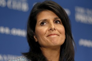 South Carolina Governor Nikki Haley speaks at the National Press Club in Washington