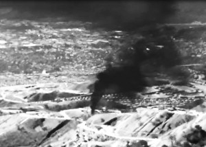 The Aliso Canyon gas storage field which has been leaking across the Porter Ranch area of Los Angeles, California is shown in this frame grab from infrared video. Photo by Earthworks/REUTERS