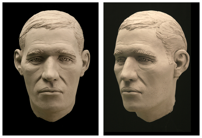 Laser scans of a skull created this 3D facial model and aided a two-year-old cold case in Horry County, South Carolina in 2009. Image by Sr. Special Agent Deborah Goff, Forensic Art Unit, South Carolina Law Enforcement Division. Courtesy of Summer Decker