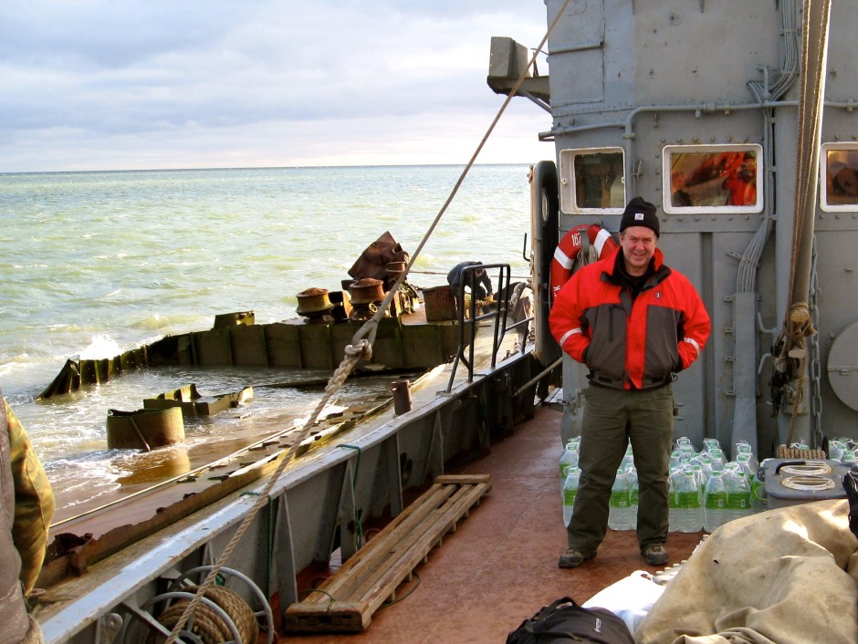 Scientist Kevin Wood at sea near the Siberian city of Anadyr, Russia. Photo courtesy of Kevin Wood
