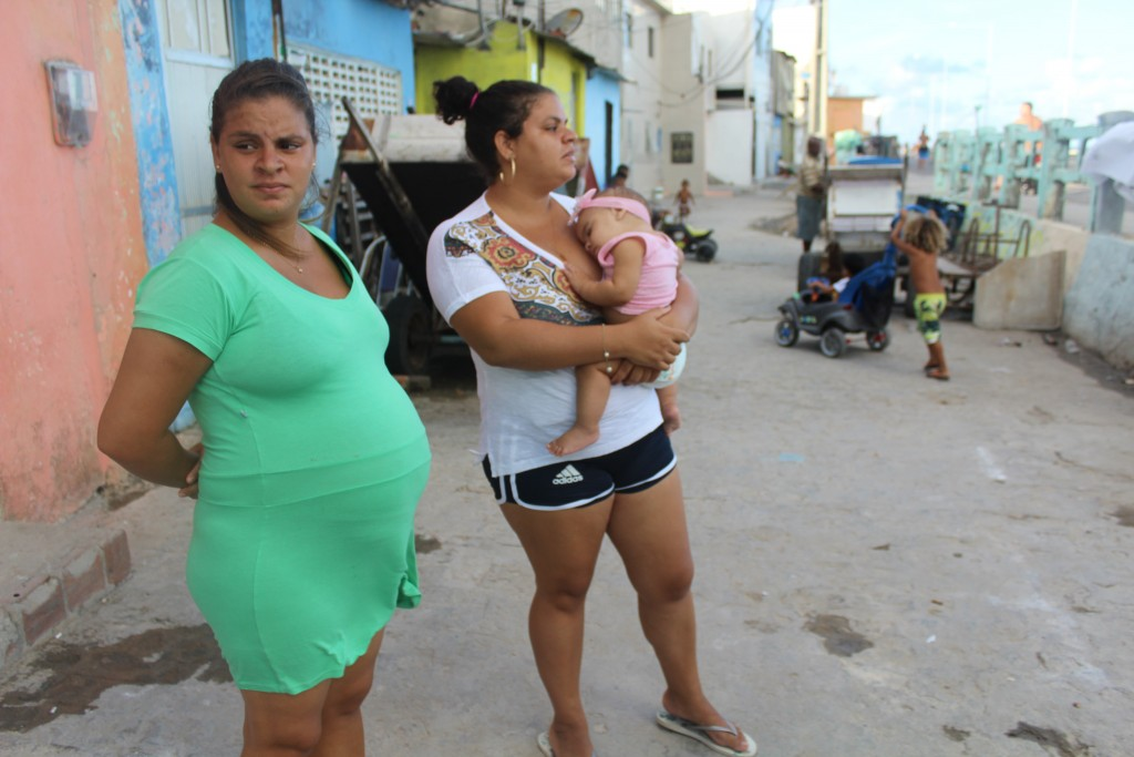Luana Silva dos Santos, left, with sister Luciana Silva dos Santos. Both question the link between Zika and microcephaly. Photo by Katie Worth/FRONTLINE