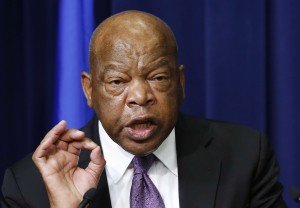 "Civil rights leader Rep. John Lewis dismissed Sen. Bernie Sanders' 1960s work on racial equality, saying, ""I never saw him. I never met him."" Photo by Larry Downing/Reuters"